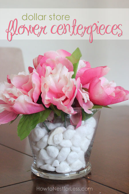 dollar store flower centerpieces, crafts, flowers, home decor, Beautiful flower centerpieces using items from the Dollar Store