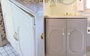 bathroom vanity makeover, bathroom ideas, painted furniture, Update your existing vanity with a fresh coat of paint and new hardware