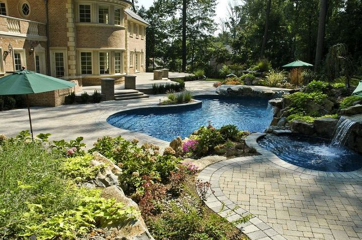 part ii when is an in ground custom spa the right choice, outdoor living, ponds water features, pool designs, spas, Custom In ground Spa