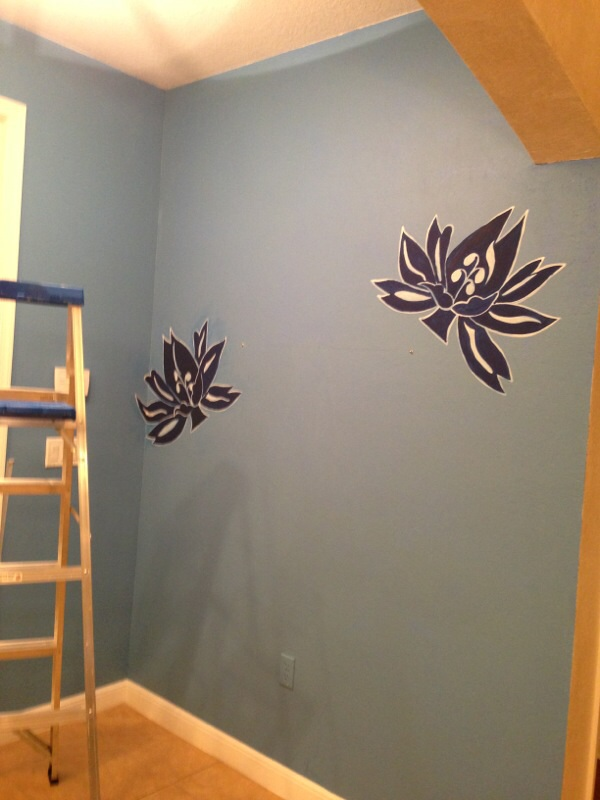 reproduction of a wallpaper, paint colors, painting, wall decor