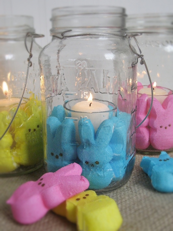 Super easy and fun candles for your Easter decor!