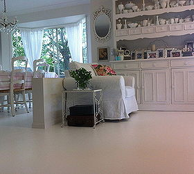Painted Concrete Floors, Concrete Masonry, Flooring, Painting, Lounge And  Dining Rooms With