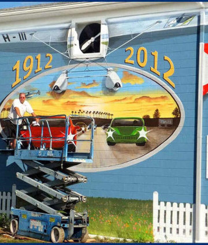 Sebring FL Centennial Mural in progress by Hahn