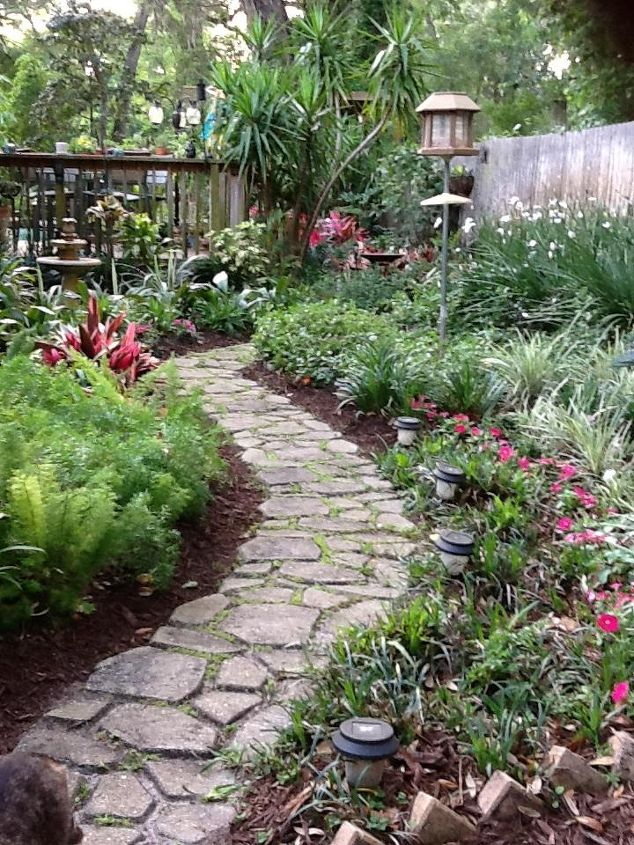 Concrete garden path hometalk - Picturesque front garden pathway ideas ...