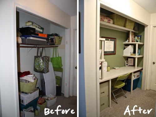 Before and After: Craft Closet