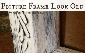 diy distressed frame how to make a new picture frame look old, crafts, painting, repurposing upcycling, This frame used to be black With just a little white paint I made it look like an old frame with chippy paint