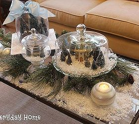 create a mini snow village with cake plates and cloches christmas decorations seasonal holiday & Create a Mini Snow Village with Cake Plates and Cloches | Hometalk