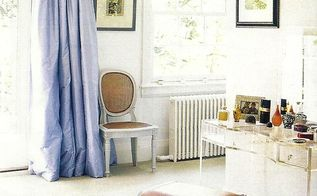 anything blue friday features, home decor, painted furniture, Curtain hanging tips