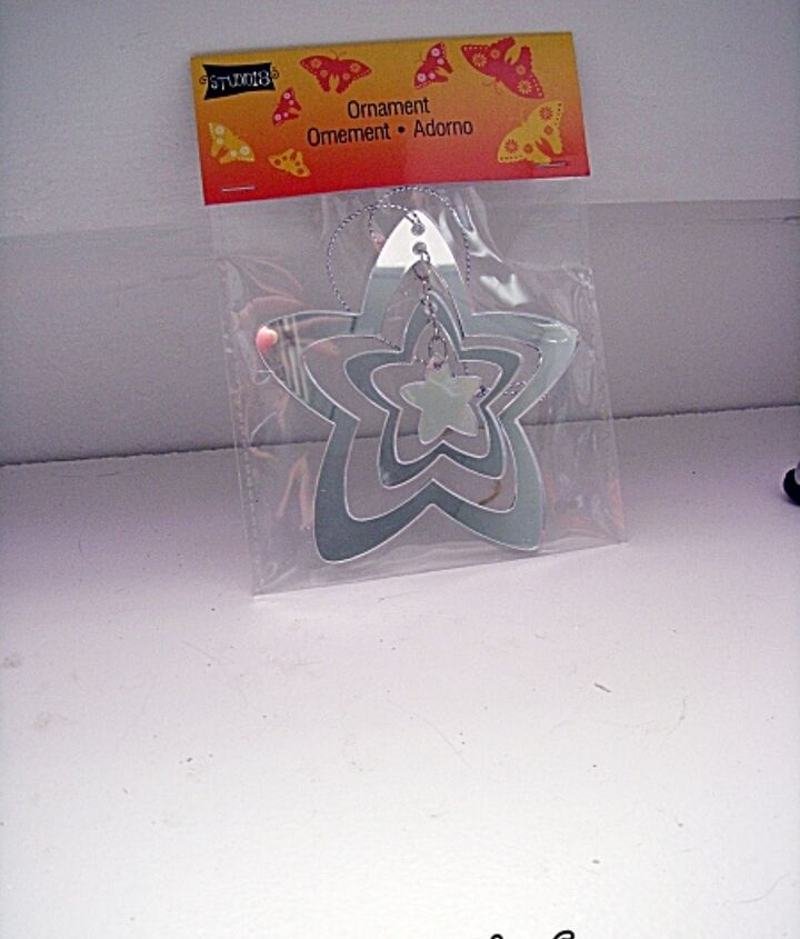 terra cotta wind chime, crafts, These are the Plastic Mirror Stars found at Michaels that inspired the project