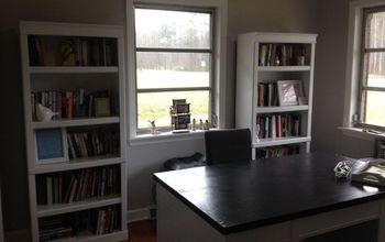 Painting Laminate Bookshelves - Dark to Bright!