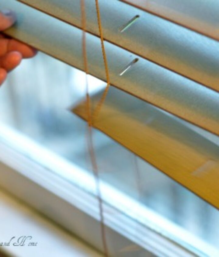 To take out the slats you simply remove the knot at the bottom of the blinds that hold the slats together. Then slip string out...the string runs through every slat from top to bottom (each slat has 2 ) Now, remove the slats.