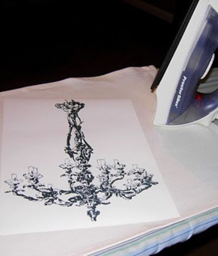 I used Iron on Transfer Paper.