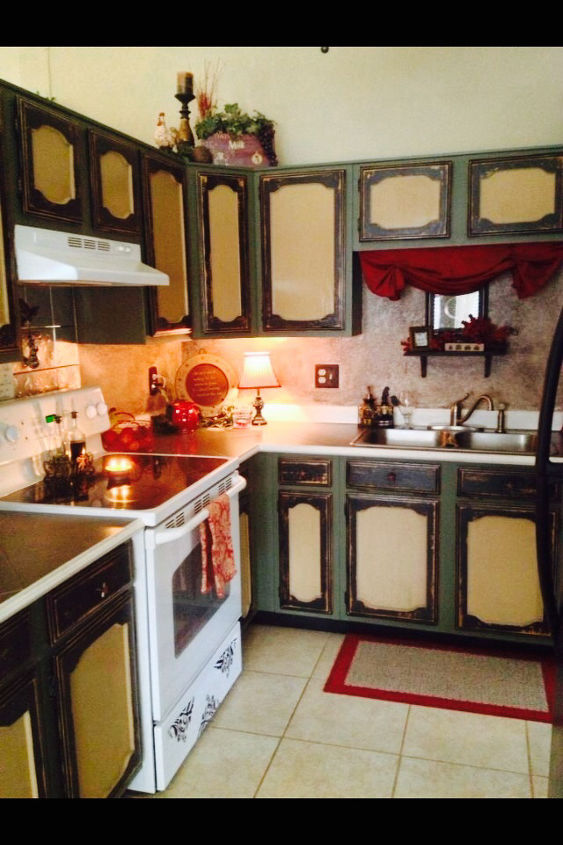 total kitchen make over the cheap way, kitchen cabinets, kitchen design, painting
