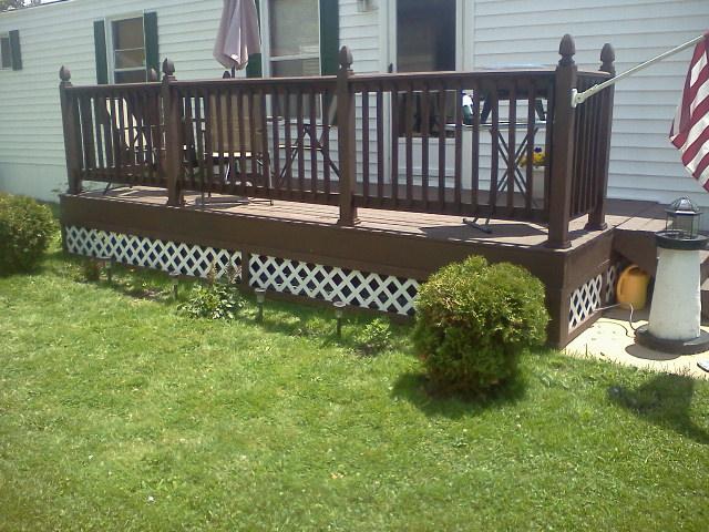 my new decks, decks, outdoor living, My Back Deck