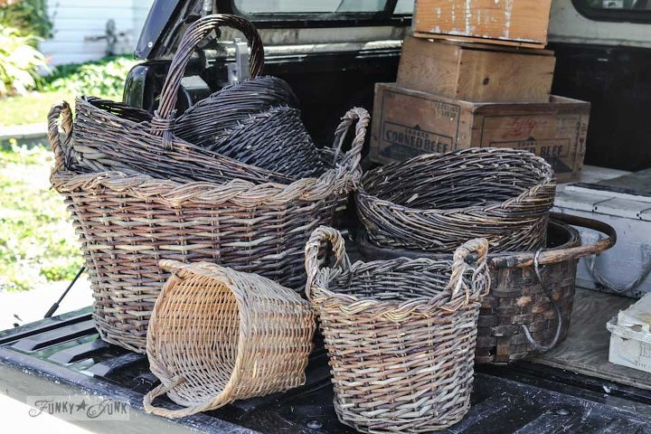 This group of collected baskets from my broth