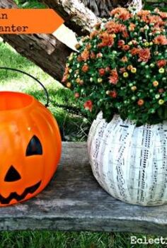 the best makeover for a 1 plastic pumpkin, crafts, decoupage, gardening, 1 Plastic Pumpkin Planter