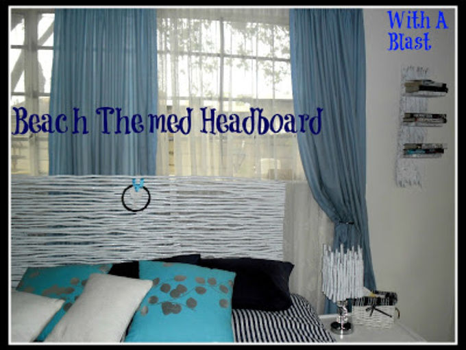 beach themed headboard made from re purposed garden reeds, bedroom ideas, crafts, home decor, wreaths