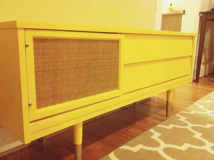 upcycled mid century tv stand, painted furniture, repurposing upcycling