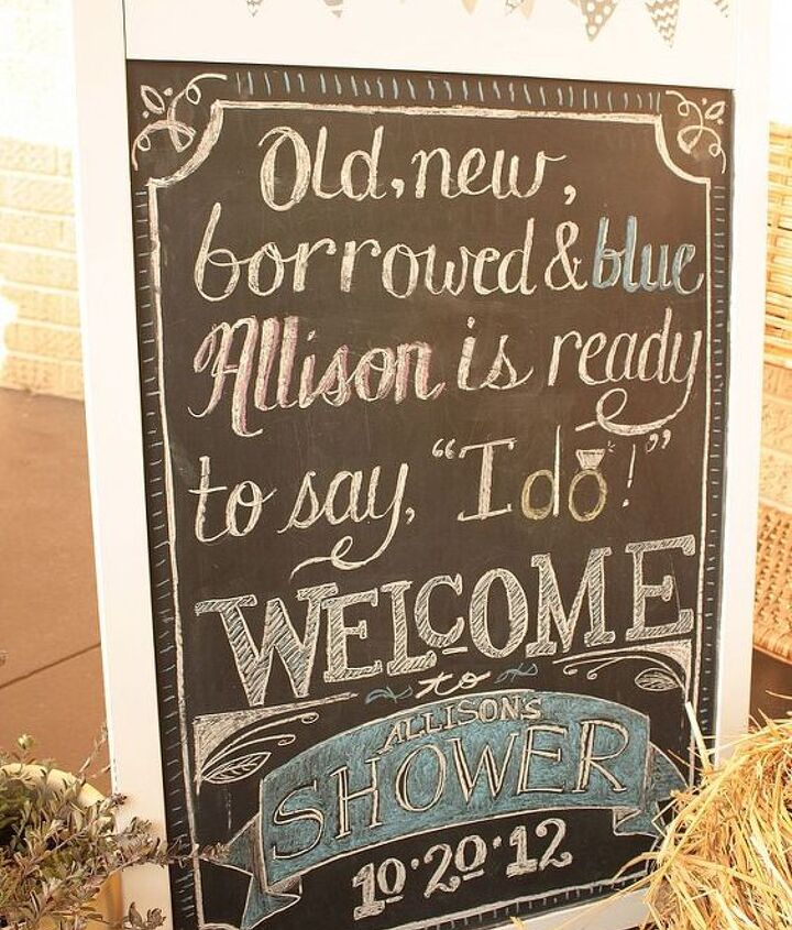 Close up of the chalkboard sign. I came up with the saying :-)