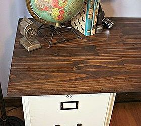 pottery barn inspired desk using goodwill filing cabinets chalk paint home decor kitchen