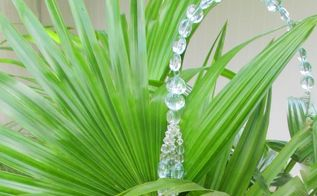 more garden crystals make your garden sparkle with crystals ii, crafts, flowers, gardening, The flat oval crystals are also faceted to give more sparkle with the sun The wire