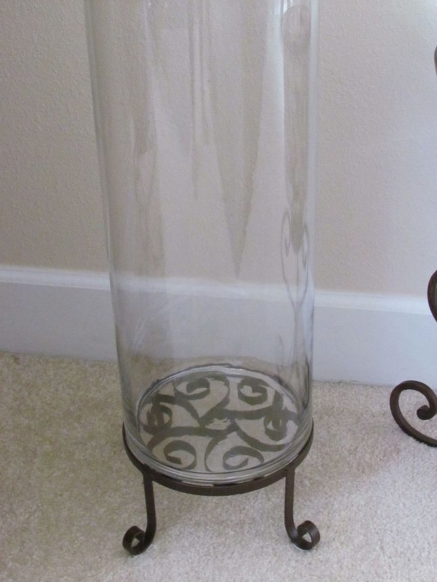 shells al a more shells in glass cylinder, home decor, outdoor living