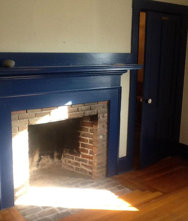 Den fireplace