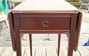 diy thursday antiqued emerald side table, painted furniture, Before