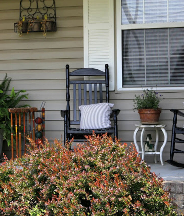 summertime porch with a vintage flair, gardening, outdoor living, porches