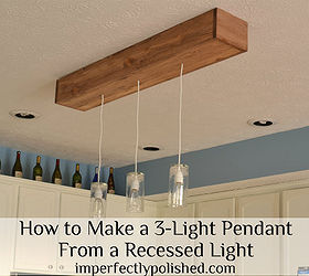 how to create a 3 pendant light fixture from a recessed light home decor & How to create a 3-pendant light fixture from a recessed light | Hometalk