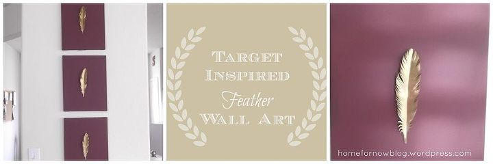 target inspired feather wall art, crafts, home decor