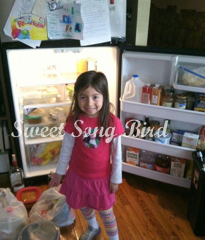 my organized fridge, appliances, organizing, My awesomely cute helper my Wunkie Princess