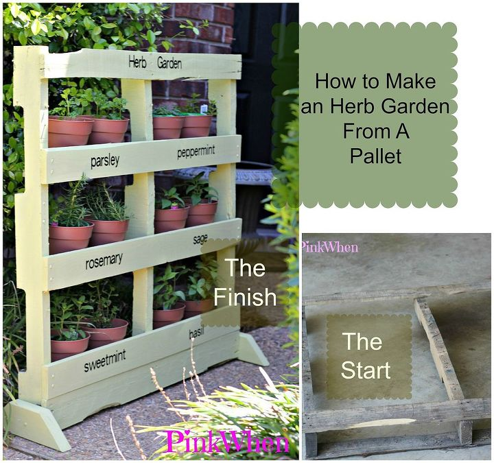 Upcycling a Pallet to a Vertical Herb Garden | Hometalk