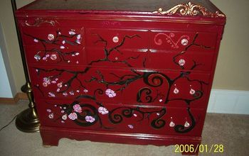 three items i ve done lamp shade drawers eraser board for desk top, crafts, painted furniture, front view