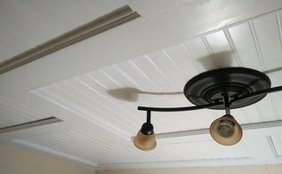 beadboard drop ceiling, diy, woodworking projects