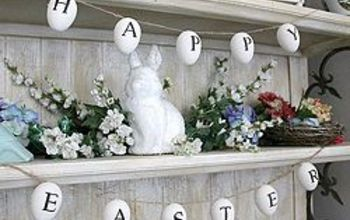 easter egg garland, crafts, easter decorations, seasonal holiday decor