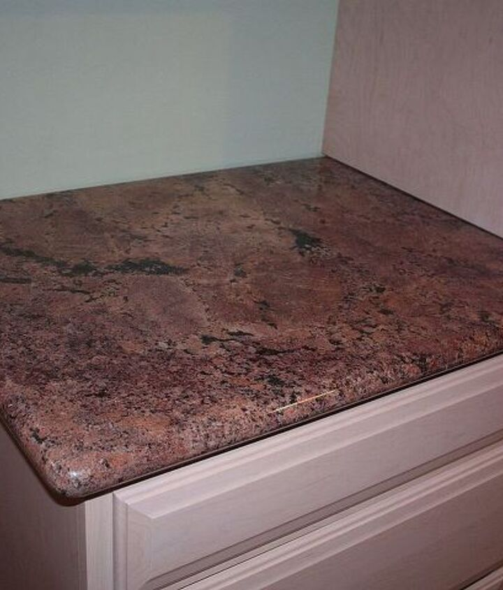 red granite for the countertops