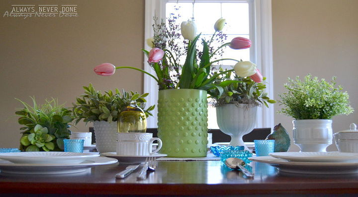 diy modern milk glass quick and easy spring project, crafts, home decor, painting, repurposing upcycling