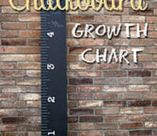 create your own chalk board ruler growth chart, chalkboard paint, crafts, Ruler growth chart with chalk board paint