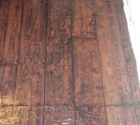 I painted my awful underlayment to look like hardwood floors I lt