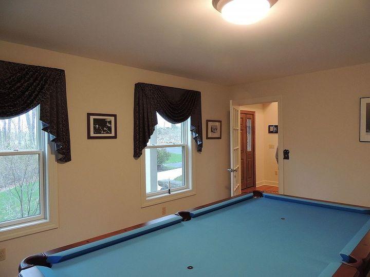billiard room remodel, entertainment rec rooms, painting, remodeling, walls ceilings, The room before