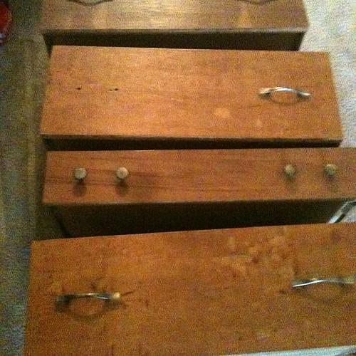 here are the drawers im working with