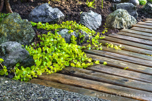 make a pallet wood walkway for your garden, diy, flowers, gardening, landscape, pallet, repurposing upcycling