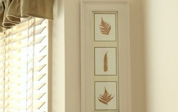 gold leaf gold painted pressed ferns, crafts, home decor, painting, Use a small paint brush and gold craft paint and carefully paint over each fern
