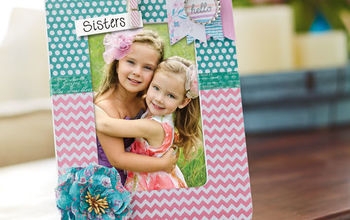 hello pastel frame, Personalize a frame to showcase your photos easily with scrapbook paper and a few embellishments