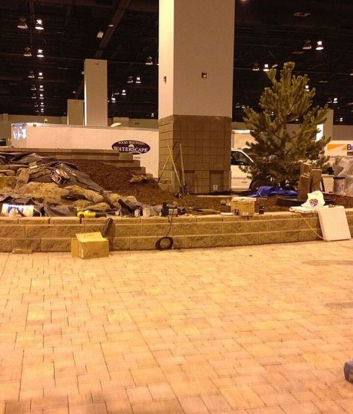 The water feature starting to take shape at Colorado Convention Center.