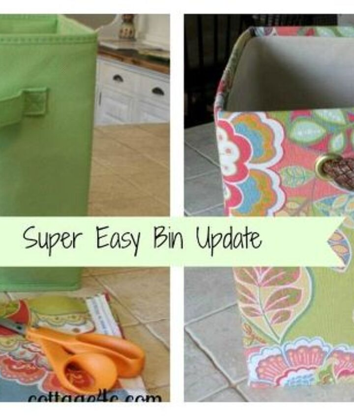simple update for fabric bins, crafts