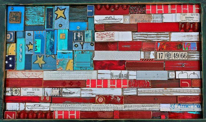 assemble your own flag, crafts, patriotic decor ideas, seasonal holiday decor