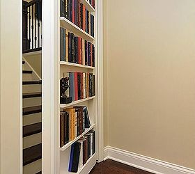 Psst 5 Hidden Storage Tactics That No One Ever Saw Coming, Cleaning Tips,  Shelving. Bookcase + Door