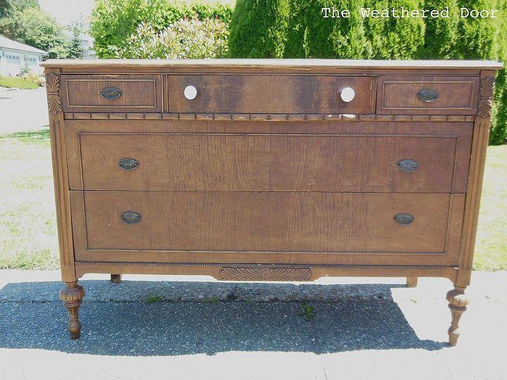 Well-known A Dark Wood Dresser With a White Top | Hometalk AZ81